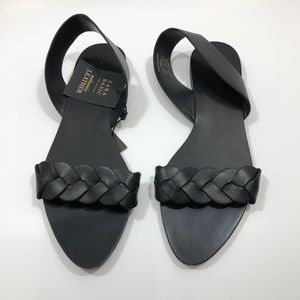 ZARA BLACK SIZE 7 1/2 FLAT SLIP ON SANDAL